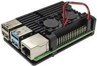 For Raspberry Pi 4 Model B Case Box Aluminum Alloy Enclosure Dual Fan Heat Sink