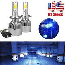 2x H7 Ice Blue LED Headlight Conversion Bulbs Hi/Lo Beam Fog Running Light 8000K