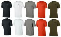 Nike Mens T Shirt Cotton Crew Club Top Black White Red Grey UK SizeS M L XL XXL