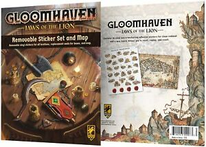 Gloomhaven Jaws of the Lion Removable Sticker Set & Map High Quality