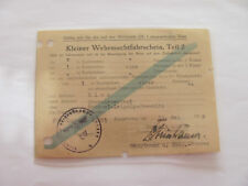 Kleiner Wehrmachtfahrschein,Teil 2, Lier - Oberwiesenthal Feldp. 46571?  ,1943