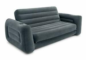 Intex Inflatable Pull-Out Sofa - Charcoal Grey