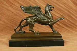 GRIFFIN MYTHICAL HOME DECOR Handcrafted Decor Bronze Sculpture Statue Figurine