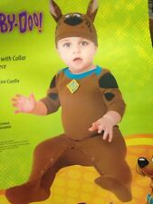New Scooby-Doo Infant Costume Hat And Romper With Snaps 6-12 Months