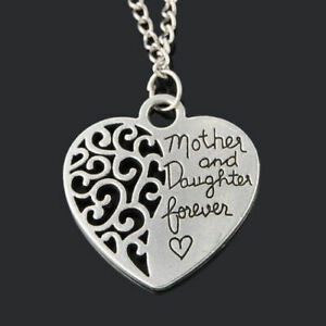 Silver Plated Mother And Daughter Mother's Day Alloy Chain Friendship Necklace
