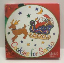 """NEW 11"""" CHRISTMAS PLATE,  MIKASA,  """"COOKIES FOR SANTA"""" New in Box, Malaysia"""