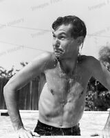 8x10 Print Johnny Carson plays at Home Pool The Tonight Show CBS 1956 #JCTS