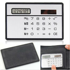 Good Quality 8DigitsUltraMiniC reditCardSizeSolar PowerPocketCalculator