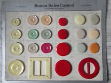 Antique Celluloid Button Sales Limited Toronto Sample Salesmans Card