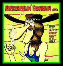 "4.25"" Fabulous Furry Freak Brothers vinyl sticker. ""Franklin Sez"" comics decal."