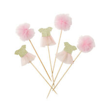 Talking Tables We Love Pink Tutu Fairy Cake Toppers Princess Party Baby Shower