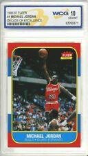 "MICHAEL JORDAN 1996-97 FLEER #4 DECADE OF EXCELLENCE"" 1986 ROOKIE CARD GEM-MT 10"