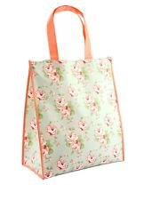 Floral / Flower Shopper Reusable Eco Foldable Shopping Tote Bag For Life - GREEN