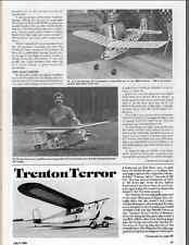 1938 TRENTON TERROR  Old Timer Vintage Free flight / RC  Plans & Templates