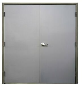"""BRAND NEW Commercial Steel 72"""" x84"""" Double Doors w/Frame & Hinges"""