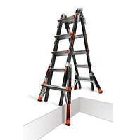 22 1A Fiberglass Little Giant Dark Horse Ladder w/ Ratchet Levelers 15145-801
