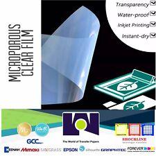"WATERPROOF Inkjet Transparency Film for Screen Printing 8.5""x14"" 100 Sh Made USA"