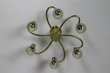 Messing Sputnik Lampe Design Brass Lamp 6 Bulbs Goldfarbend