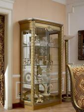 Display Case Glass Cabinets Wardrobe Living Room Shelf Baroque Rococo Real Wood