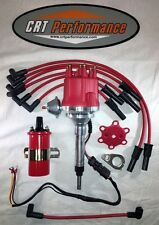 CHEVY INLINE 6 Cylinder 235 RED small cap HEI Distributor + 45K Coil + 8MM Wires