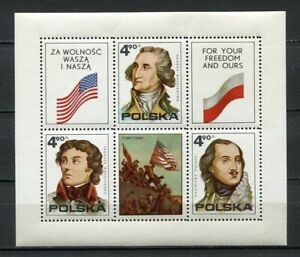 36092) POLAND 1975 MNH** American Revolution, bicentenary. USA