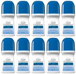 Avon Cool Confidence Deodorant Women - Roll-On Anti-perspirant 2.6 oz 10-Pack