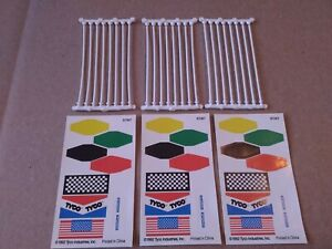 Tyco Mattel New Flags Banners Decals Sticker Sheets Poles Posts