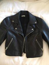 Reformation Cropped Leather Moto Jacket XS