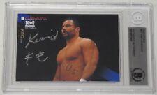 Kimo Leopoldo Signed 2000 Epoch K-1 Grand Prix Card BAS COA UFC Pride Autograph