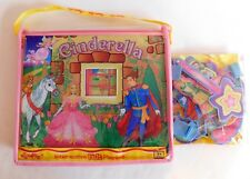 Collectible Cinderella Interactive Display & Play 3D Felt Playset Book Carry Bag