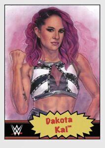TOPPS WWE LIVING SET CARD DAKOTA KAI #65 ONLINE EXCLUSIVE LIMITED EDITION