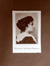 Vittoria Aganoor Pompilj Poetessa Padova, 26 maggio 1855 – Roma, 8 maggio 1910