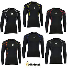 Didoo compression base layer body armour Long Sleeve mens gym t shirt Sports top
