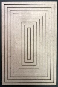 Chipboard Nested Frames 5mm Wide