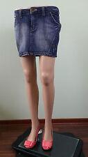 ENERGIE Denim Womens Casual Fashion Party Sexy Blue Jeans Mini Skirt sz M/L AW62