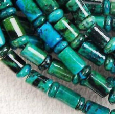 New 6x9mm Azurite Chrysocolla Gemstone Column Loose Beads 15''