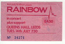 Rainbow Difficult To Cure Tour Ticket Leeds 1981