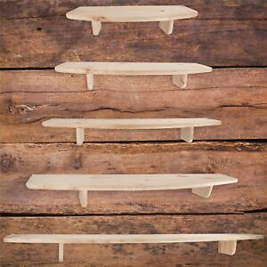 Natural Pine Wooden Floating Shelf Shelves / 5 Sizes / Wall Mounted Storage Rack