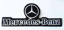 MERCEDES BENZ IRON ON EMBROIDERED PATCH 12cm x 5cm CARS HIGH QUALITY PATCH