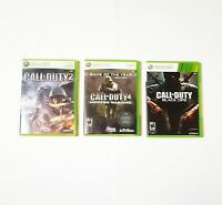 Call of Duty 2 ,4 and Black OPS lot of 3 Xbox Mint