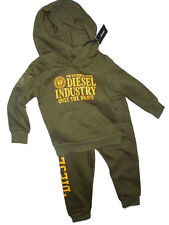 Diesel boys olive green Pants & hoodie Sweatshirt set outfit  24 month toddler