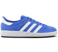 Adidas Originals München Leather Sneaker Scarpe Uomo Blu BY1723 da Ginnastica
