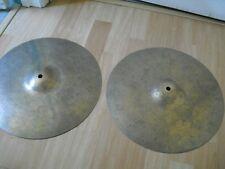 "14"" Avedis Zildjian A Custom HiHats Hi Hats Cymbals no ink logos"