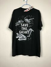 NWT Star Wars Save the Galaxy Men's S/S T-Shirt Millennium Falcon X-Wing Size L
