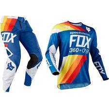 Fox Racing 360 Motocross MX Kit Pantalon Jersey - Draftr Bleu