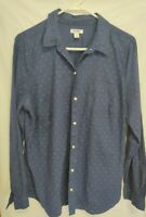 OLD NAVY Polka Dot Shirt Long Sleeve Button Front Size Woman's L