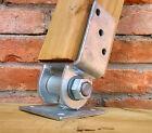 Pied de poteau incliné 70x70 90x90, ancre de poteau penché acier galvanisé