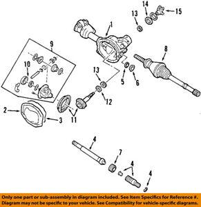 FORD OEM Front-Axle Seals 5L8Z4B416AA