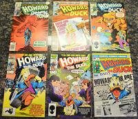 HOWARD THE DUCK (6-Book) LOT #1, 2, 8, 19, 29, 32 (1977-1987 | Marvel Comics)
