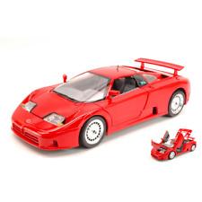 BUGATTI EB 110 1990 RED 1:18 Burago Auto Stradali Die Cast Modellino